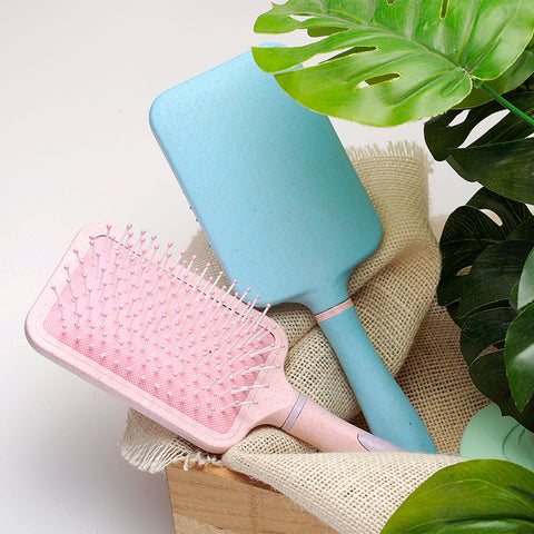 Image of Large Detangling Paddle Hairbrush Hair Comb for Wet or Dry Hair Light Blue