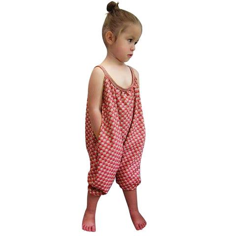 Image of Kids Girls Straps Rompers Toddler One Piece Jumpsuits Pants  5-6 Years