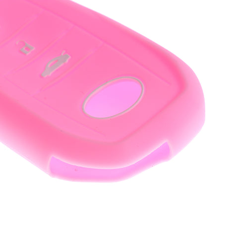 Car Key Silicone 3 Buttons Protective Case Cover For Toyota Mirai  Pink