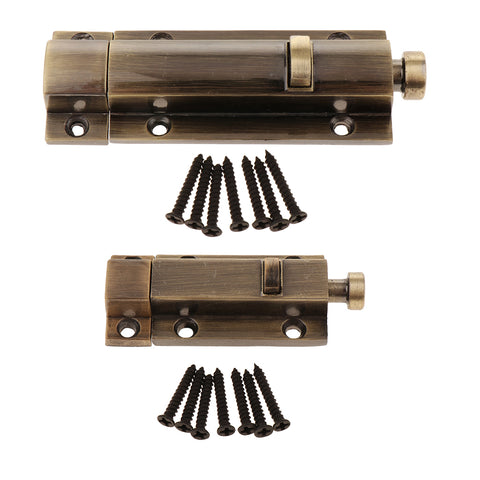 Image of Zinc Alloy Door Slide Bolt Hasp Lock Latchbolt Home Safety Guard Copper 3inch