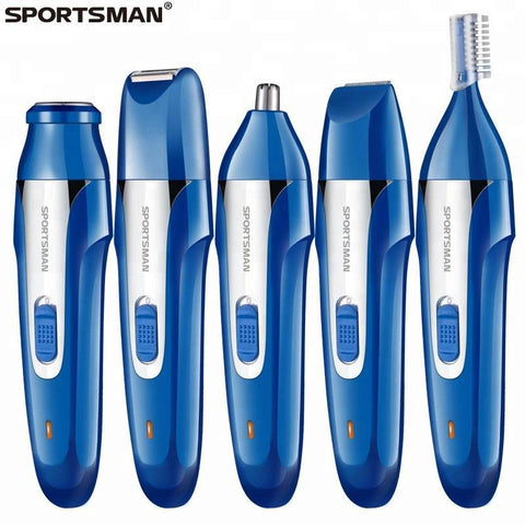 100% Washable SPORTSMAN 420 New Design Nose Trimmer Washable USB Electric Trimmer 5in1
