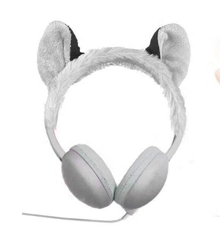 Image of High Quality OEM Custom Wired Cartoon Cute Animal Warm Plush Headphones For Children