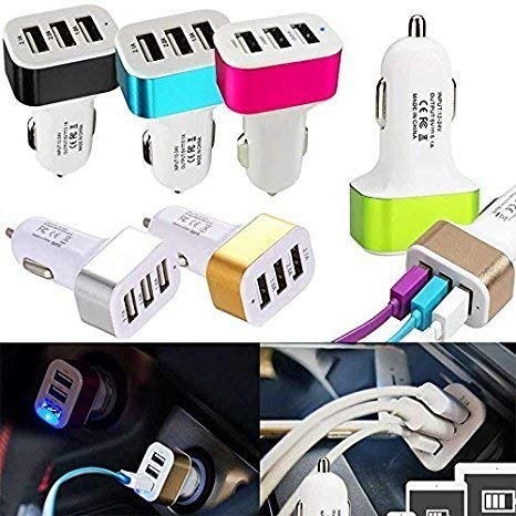 3 USB Car Phone Smart Charger Adaptor for All Latest Smartphones