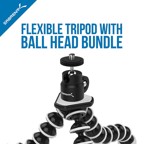 Flexible with Ball Head Bundle for standard Tripod mount