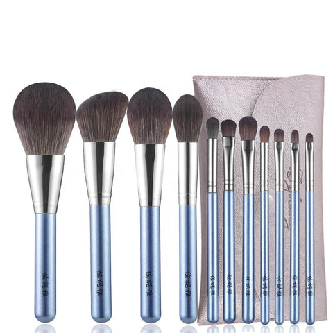 Wholesale Professional 12 pcs wooden handle brush make up High Quality cosmetics set