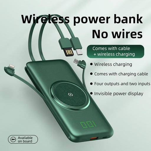 Timess Trending Products 2020 New Arrivals Portable Power Bank For Phone Portable Wireless Charger With 4 Cables
