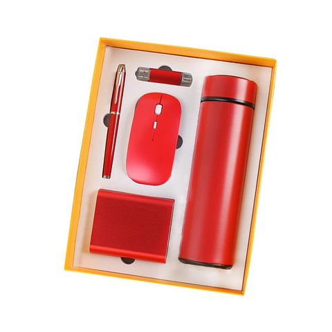 Image of 2021 Premium Notebook Thermos flask USB drive pen and Mouse Business Luxury Corporate Men Gift Set