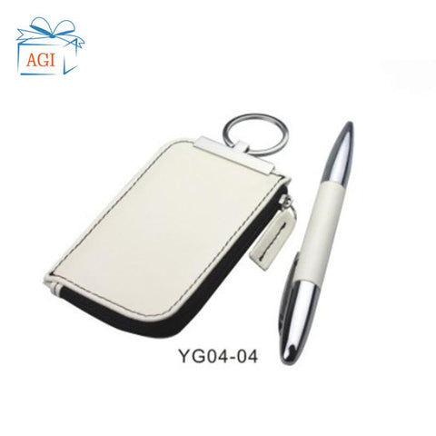 Corporate Gifts Men Pen Keychain set with box for Gifts