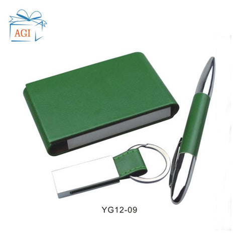 Image of Pen Keychain and Card Holder Gift Set Corporate Executive Gift Set Promotional Gift Set For Clients