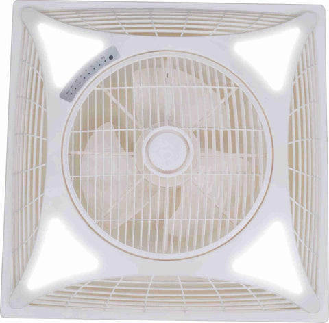 Image of 2x2ft 60*60cm 14/16/18 inch air circulator SHAMI false ceiling box fan W/ remote control auto start LED light optional