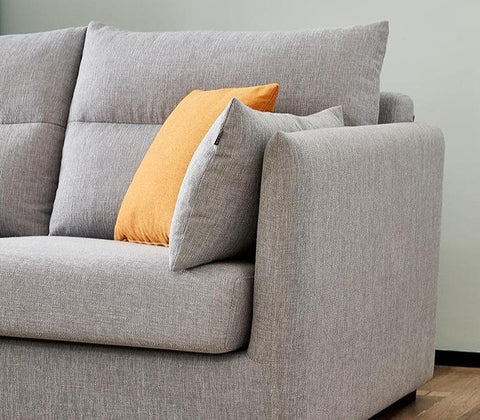 Victoria 3+1 Seater Light Grey LHS Sectional Sofa