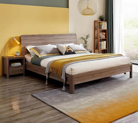 Image of Voula Oak Finish Queen Beds