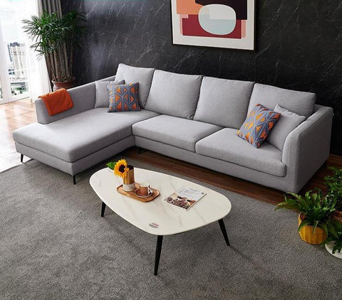 Image of Wels 3+1 Seater Grey RHS Sectional Sofa