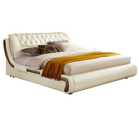 Image of Winchester Off-White Upholstered Queen Bed