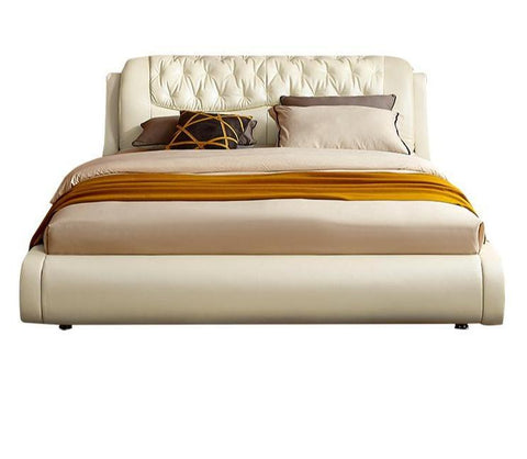 Winchester Off-White Upholstered Queen Bed