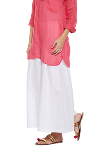 Off Flared Cotton Palazzos