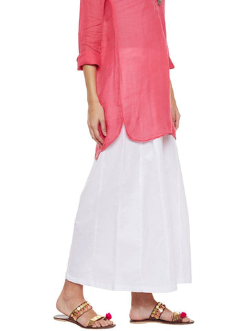Image of Off Flared Cotton Palazzos