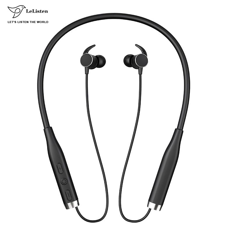 Wholesale Good Bass Bluetooth Foldable Neckband Stereo Earphone OEM Earbud With aptx Sound for iphone xiaomi huawei