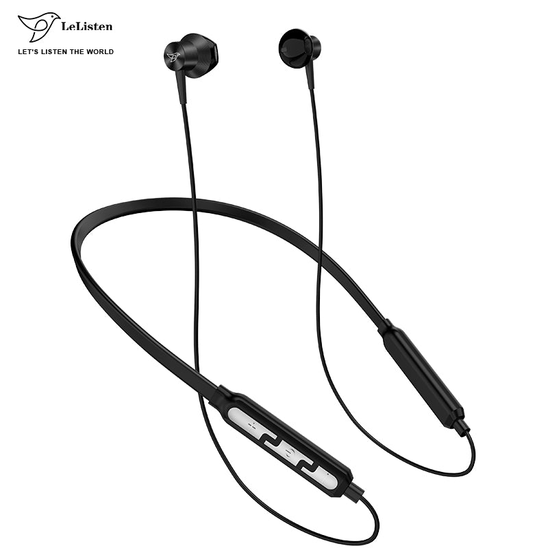 Premium Black Matte pro Sample Earbuds Rubbers Wireless Bluetooth Earphone Neckband Wireless Headphone