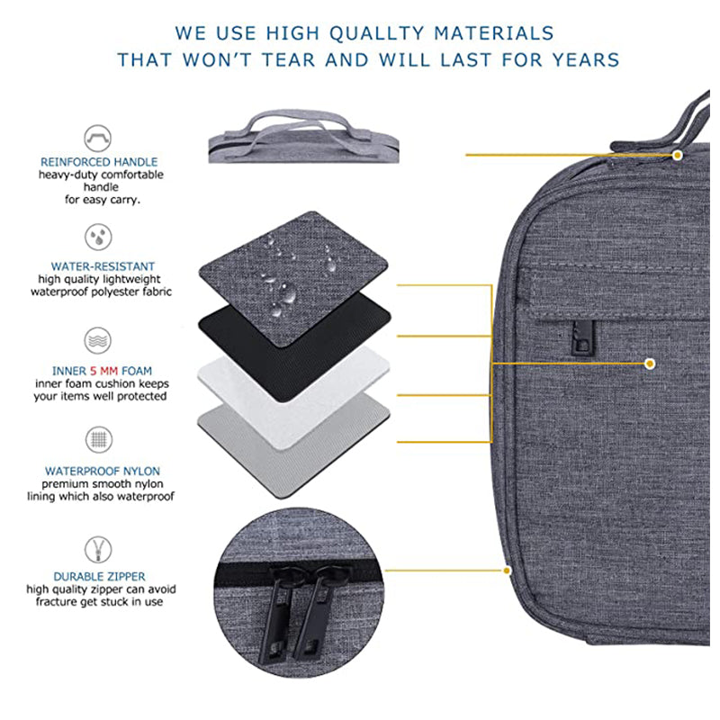 P&T Hanging travel toiletry bag for men and women | Large capacity cosmetic wash bag