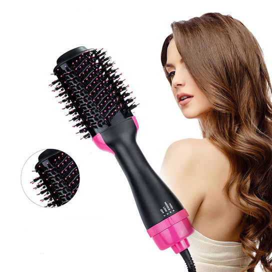P&T Hair Brush Private Label Flat Iron Hot Air Pick Electric Comb One Step Hair Dryer Fast Hair Straightener Brush Hot Air Brush