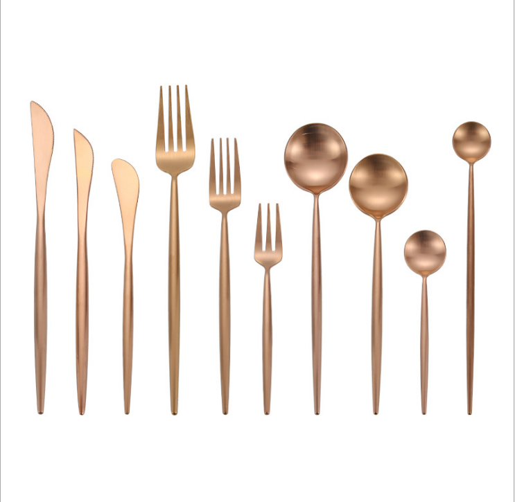wholesale wedding gold flatware cutlery sets flatware