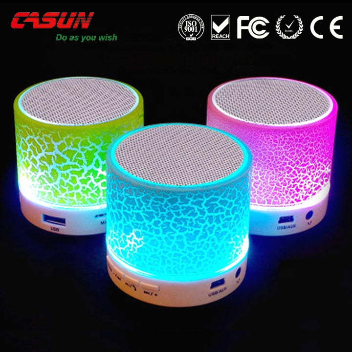 P&T mini outdoor bt speaker led cube light bluetooth speaker