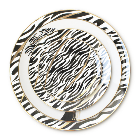 Most Popular Nordic Ceramic Plates Black and Gold luxury plates and dishes