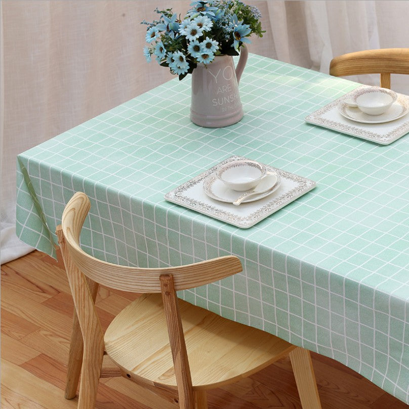 PEVA wash free, oil proof, scald proof, waterproof tablecloth, domestic Nordic style