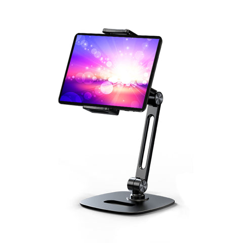 P&T Desk Mobile Phone Holders, Updated Aluminum Desktop Universal Desk Stand for All Mobile Smart Phone Tablet