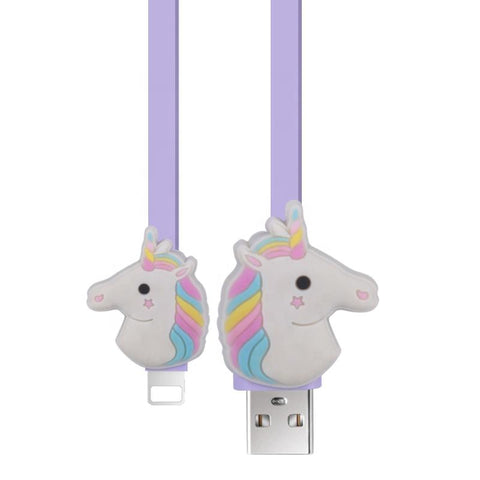 Wholesale New Design USB Cartoon PVC Data Charging Cable for IOS