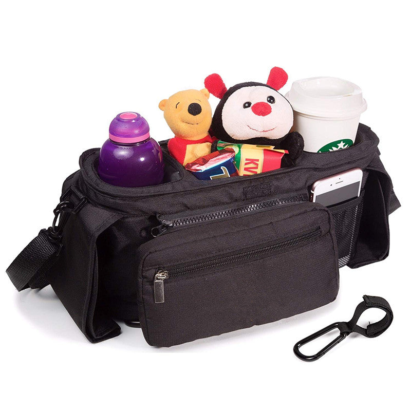 P&T Baby Strollers Organizer with Cup Holders Travel Baby Bag Shower Gift Secured Fit Extra Storage