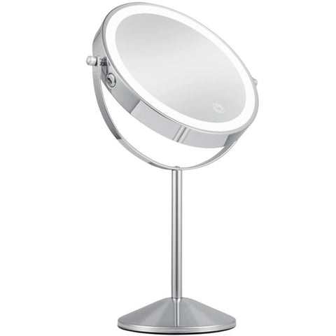 Table Top Free Standing 8 Inch Double Sided Battery Powered Vanity Makeup Mirror With Lights