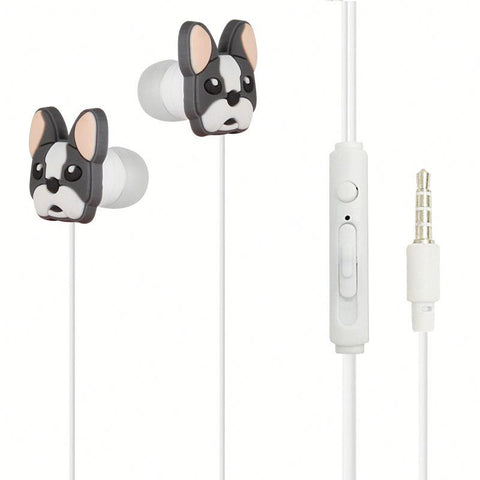 OEM Custom Cheap Cat Earbuds Cartoon Earphone With Remote Control Mic