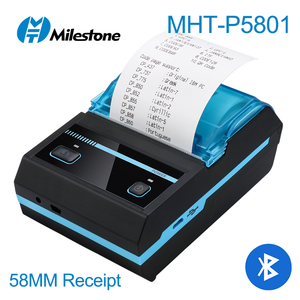 80mm bluetooth thermal printer usb port mini portable thermal receipt printer with free application