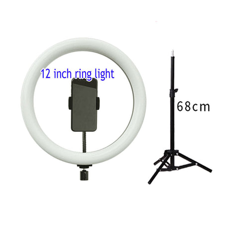 P&T selfie ring light with tripod stand, 16cm 20cm 26cm 30cm ring light makeup with phone holder