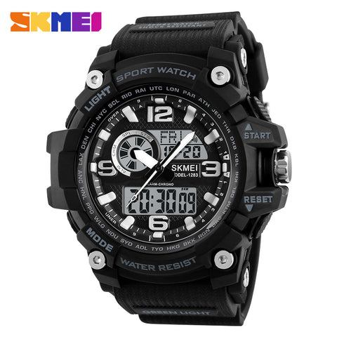 Image of P&T Custom men watch Skmei 1283 fashion more time digital watches men sport outdoor waterproof wristwatches