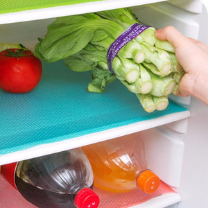 EVA anti-slip straight line drawer and shelf liner mat for refrigerator