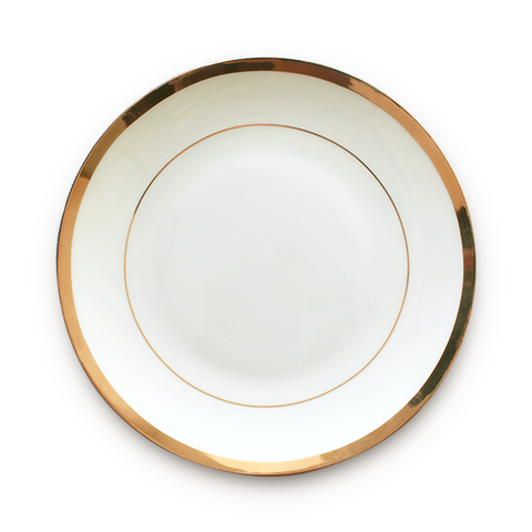 Image of Elegant White Gold Restaurant Plates Chinese Bone Porcelain 3 buyers