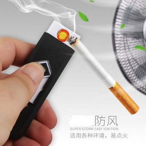 2019 No flame no gas rechargeable battery USB lighter