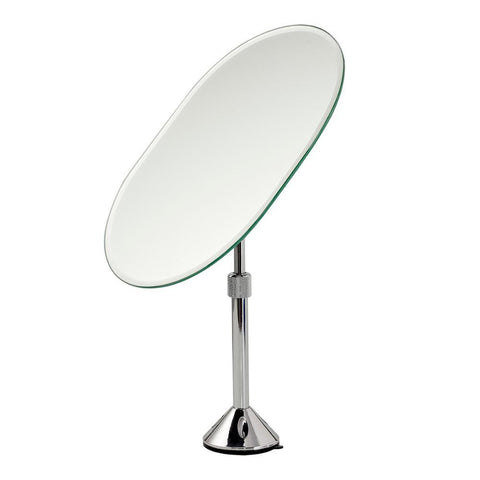 Square Shaped Iron Chrome Plated One Sided Table Stand Pedestal Beauty Mirror