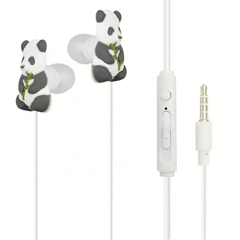 In Ear Quality Wired PVC Cartoon Earphone for Mobile Phone