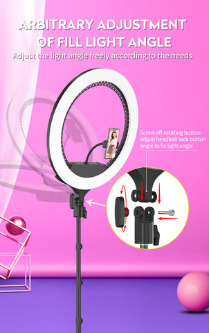 P&T RK-59 21 inch Selfie Ring Light led Ring light with Tripod Stand for Live Streaming and Makeup