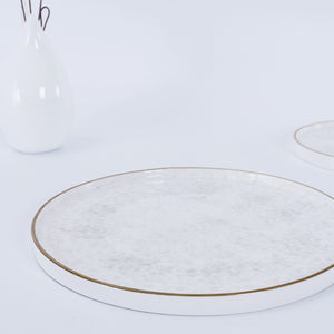 wholesale round flat porcelain dinner tableware crockery ceramic dining plate