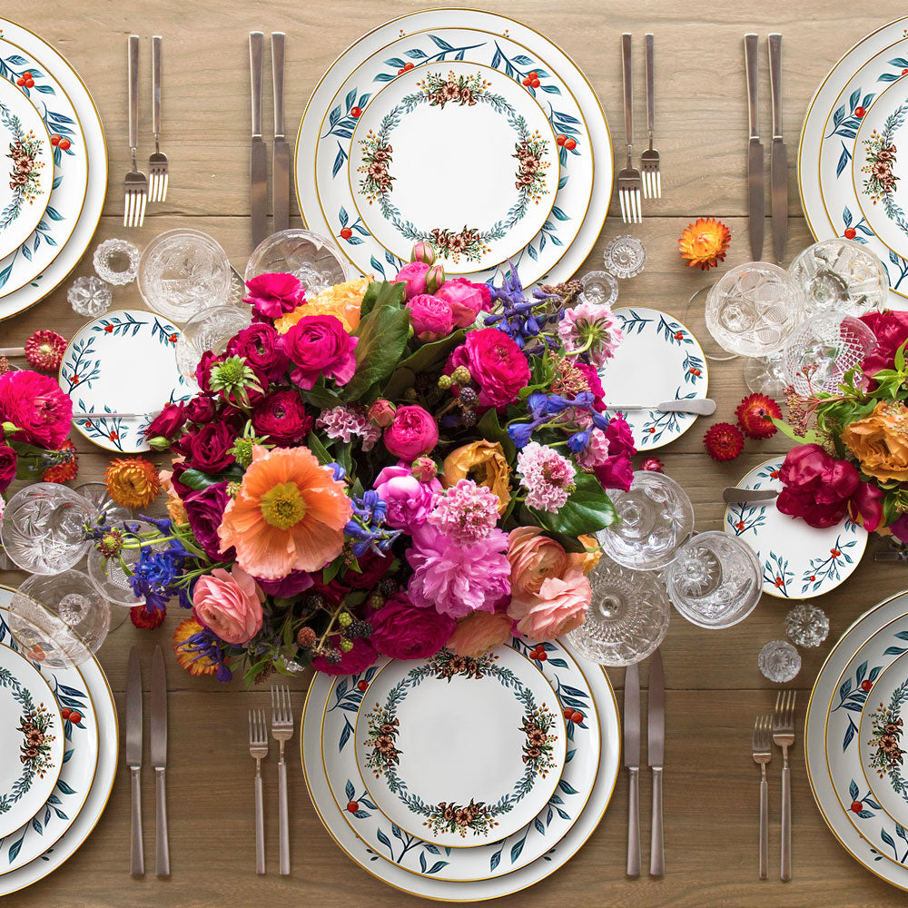 Wholesale European Style Porcelain Dinnerware Sets wedding Dinner Set