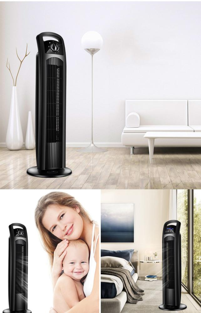 Customized high quality 220V household air cooling floor tower fan with remote control