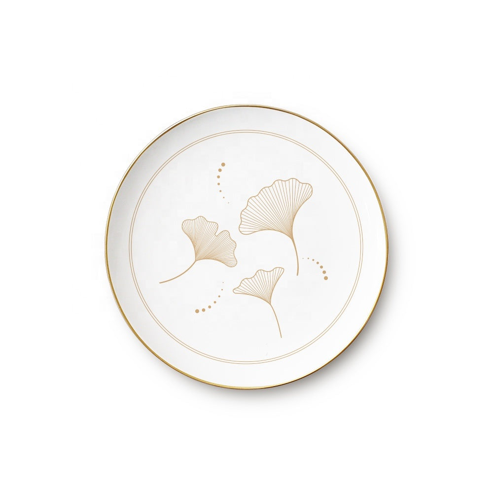 Wholesale luxury bone china dinner plates sets for wedding catering