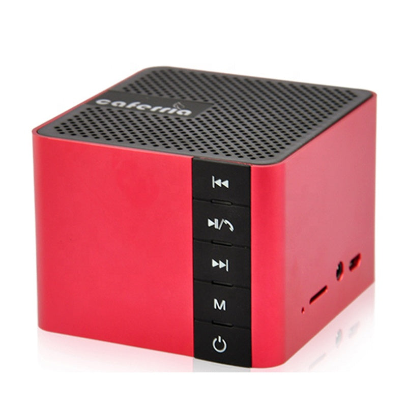 P&T promotional gift custom metal portable mini wireless speaker with logo