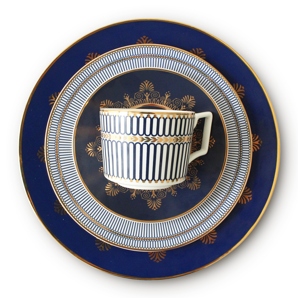 Wholesale Dubai luxury bone china porcelain dinnerware sets