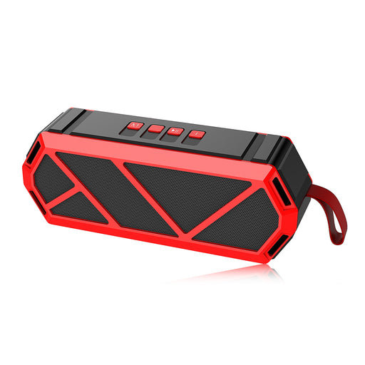 P&T Outdoor Bluetooth Speaker Portable Bass Wireless Loudspeaker Subwoofer Speaker Support TF Card